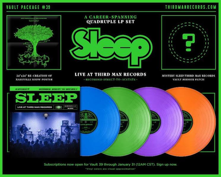 Sleep Announces Quadruple Vinyl Live Album for Third Man Records