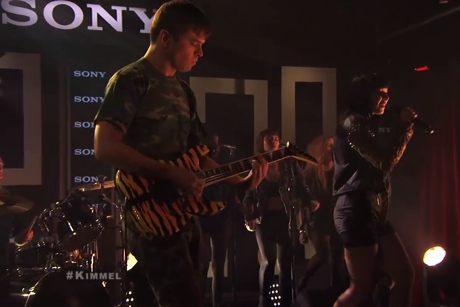 "Sleigh Bells ""Bitter Rivals"" / ""Tiger Kit"" (live on 'Kimmel')"