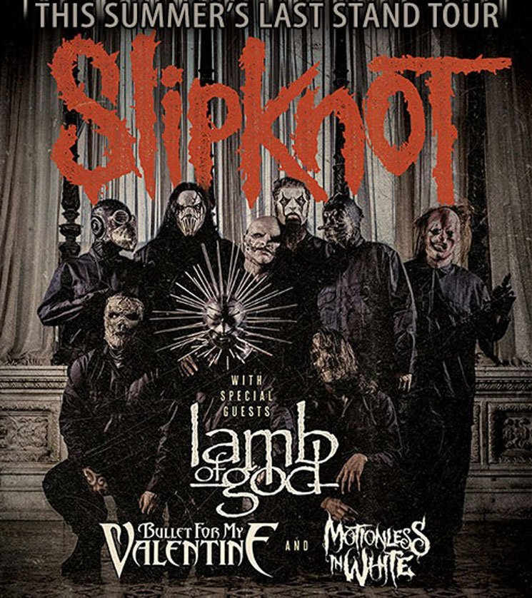 "Slipknot Announce ""Summer's Last Stand"" Tour with Lamb of God, Bullet for My Valentine"