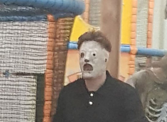 Man in Slipknot Mask Terrifies Children's Playground