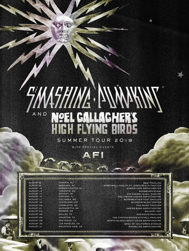 ​Smashing Pumpkins, Noel Gallagher's High Flying Birds and AFI Announce North American Tour