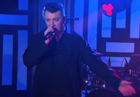 Sam Smith 'Money On My Mind' (live on 'Kimmel')