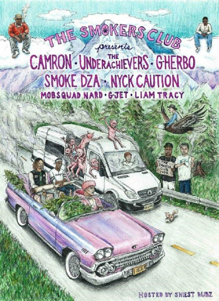"Cam'ron, the Underachievers, Nyck Caution Roll Out ""Smokers Club Tour"""