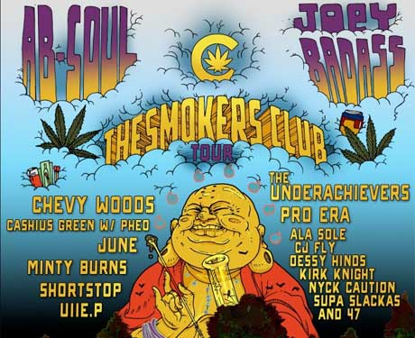 "Joey Bada$$, Pro Era, Ab-Soul Team Up for ""Smokers Club Tour"""