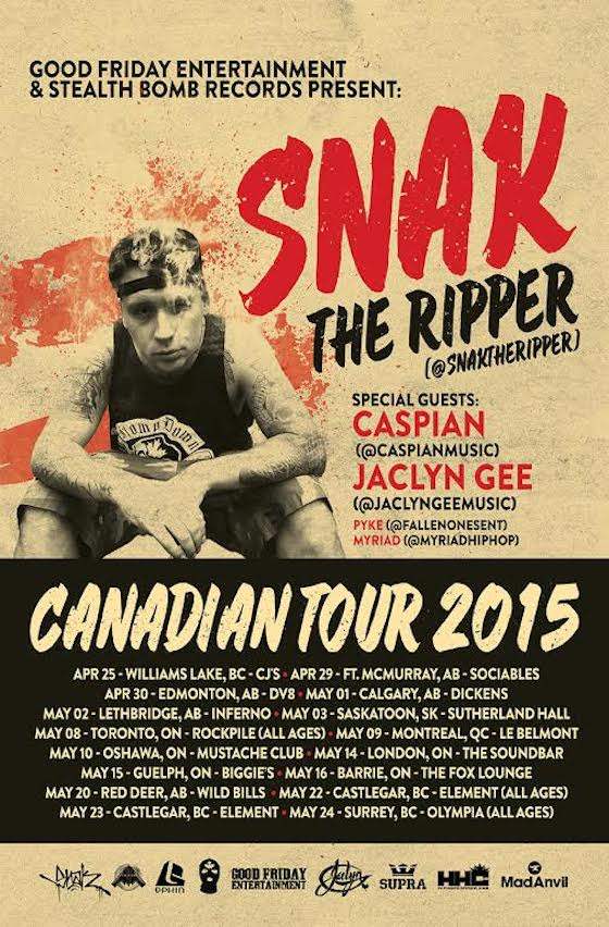 Snak the Ripper Announces Canadian Tour