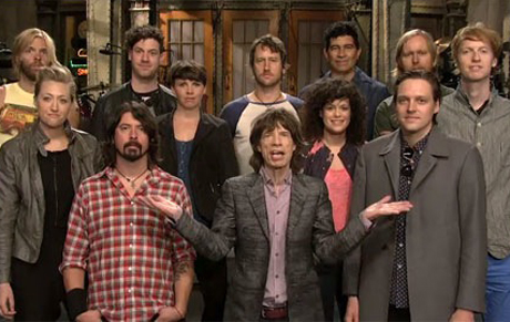 Mick Jagger Live on 'SNL' with Arcade Fire & Foo Fighters