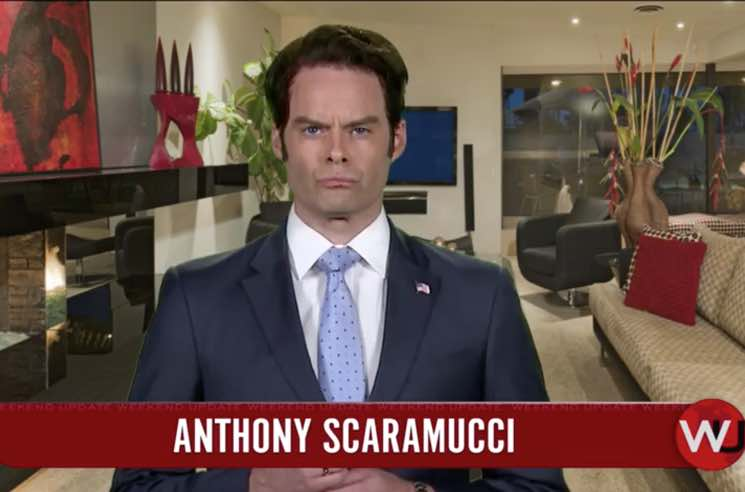 ​Watch Bill Hader Return to 'Saturday Night Live' as Anthony Scaramucci