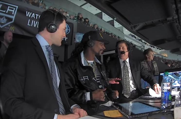 ​Watch Snoop Dogg Guest Commentate at an NHL Game