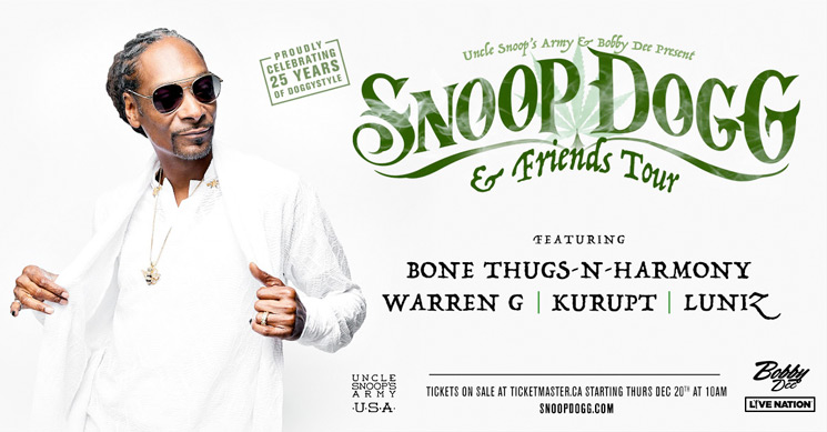 Snoop Dogg Celebrates 25 Years of 'Doggystyle' with Western Canada Tour