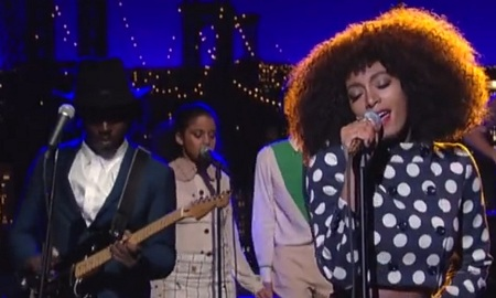 "Solange ""Don't Let Me Down"" (live on 'Letterman')"