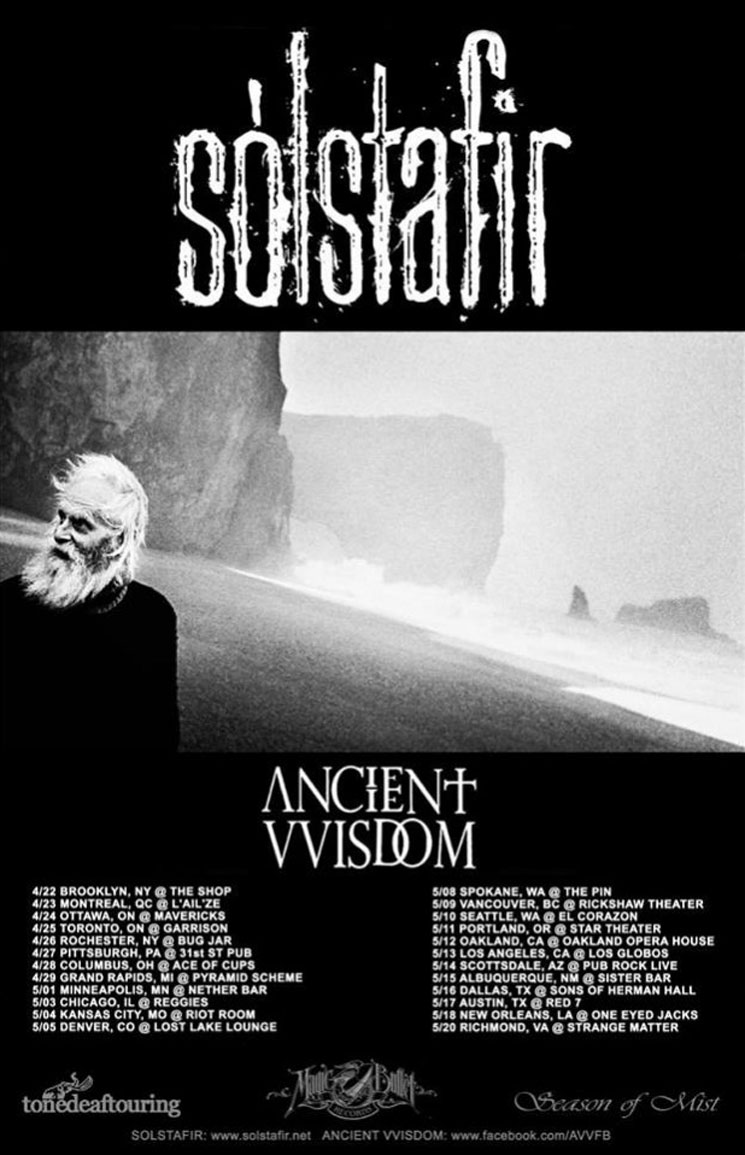 Sólstafir Announce North American Tour with Ancient Vvisdom