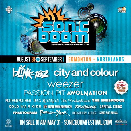 Edmonton's Sonic Boom Festival Brings Out Blink-182, Weezer, City and Colour, Passion Pit