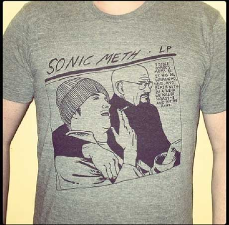 Sonic Youth's 'Goo' Cover Gets 'Breaking Bad' Makeover on New T-Shirt