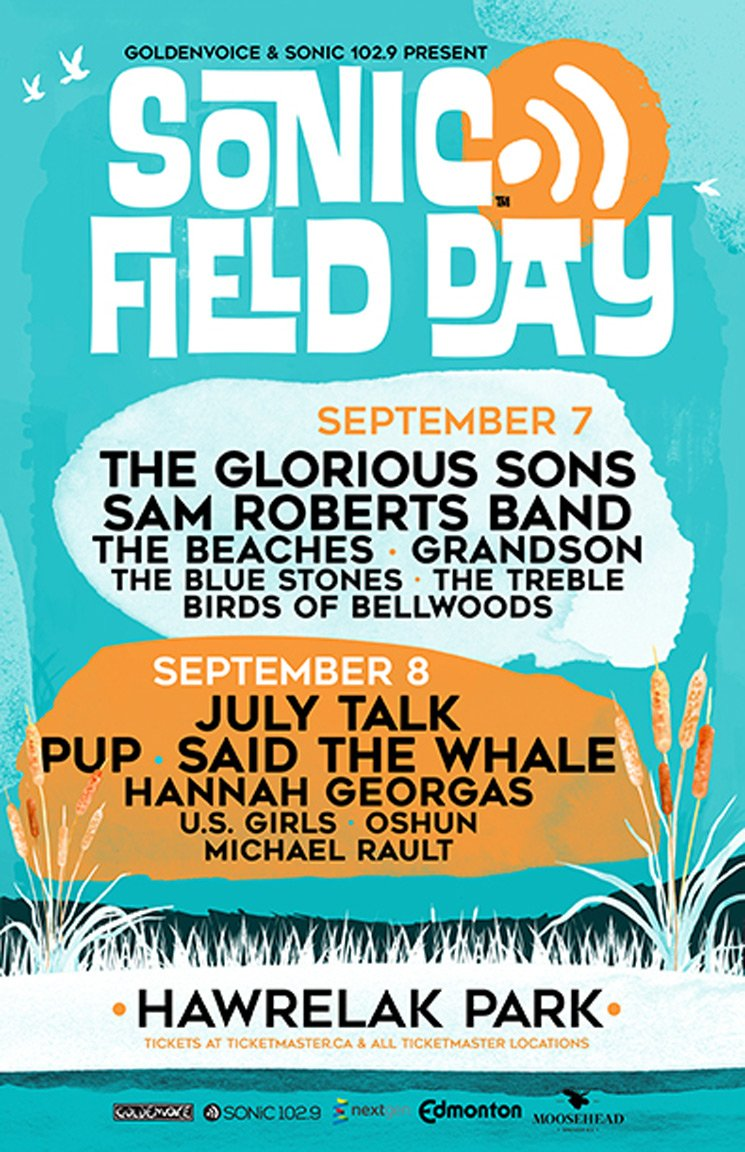 Edmonton's Sonic Field Day Unveils 2019 Lineup with PUP, July Talk, the Glorious Sons