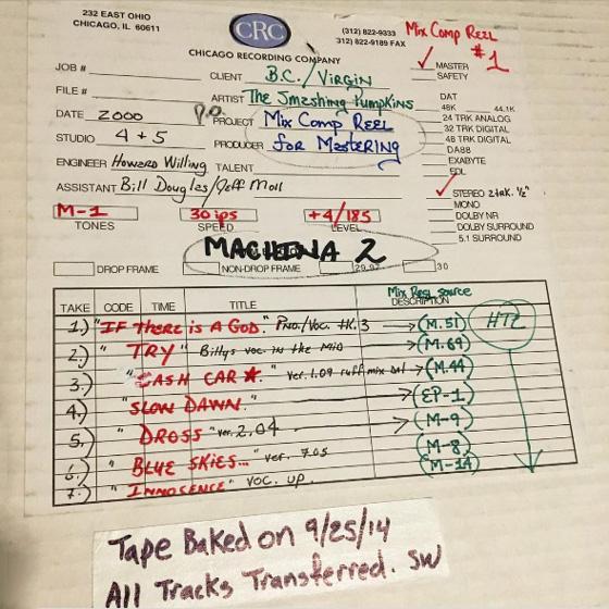 Billy Corgan Has 'Finally' Started Smashing Pumpkins' 'Machina' Reissues