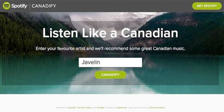 """Want to """"Listen Like a Canadian""""? Spotify Has an App for That"""
