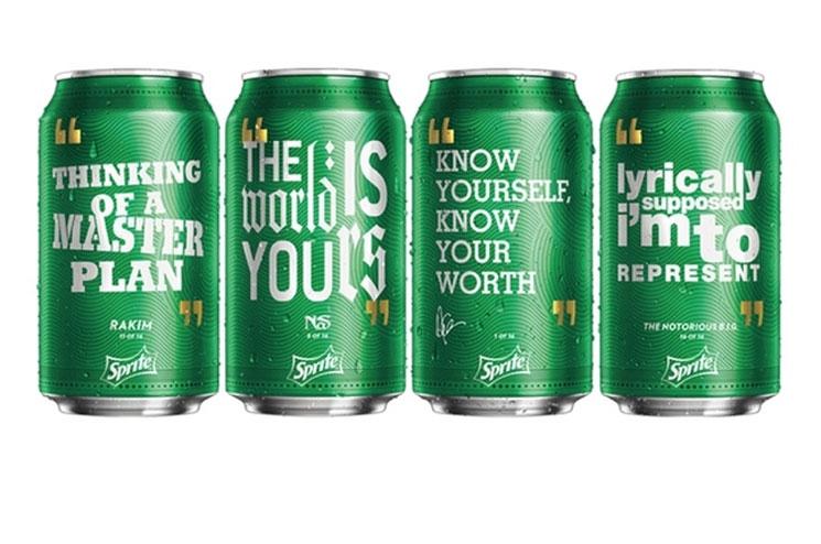 Sprite Adorns Cans with Lyrics from Drake, Nas, Notorious B.I.G. and Rakim