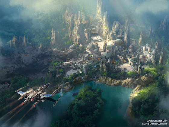 Disneyland Releases Official Artwork for 'Star Wars' Theme Park