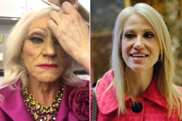 "​Patrick Stewart in Drag and Kellyanne Conway Are Definitely ""TWINSIES"""
