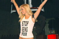 Paris Hilton Says That Infamous 'Stop Being Poor' Shirt Is Fake