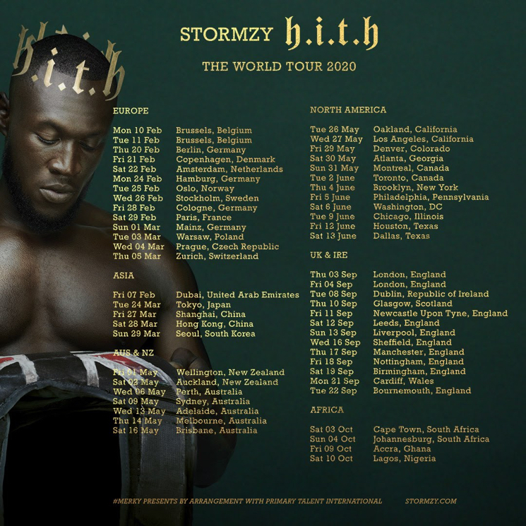 Stormzy announces Dublin show next year