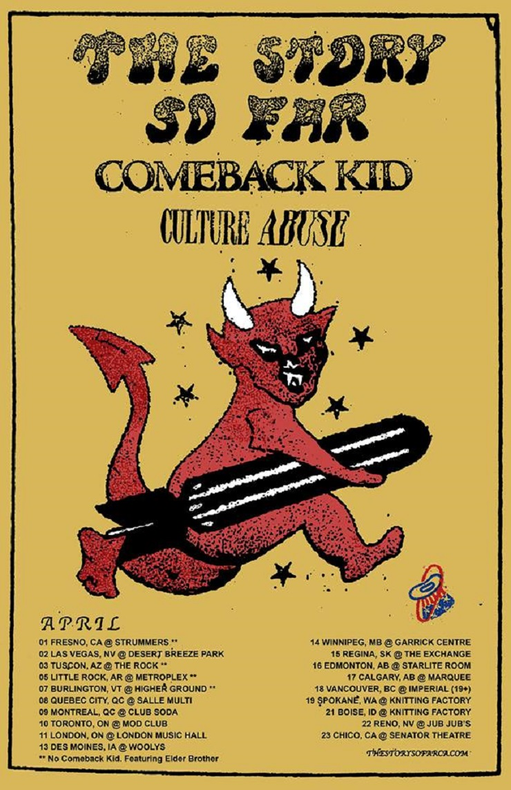 The Story So Far, Comeback Kid and Culture Abuse Head Out on North American Tour