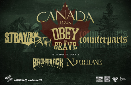Stray From the Path, Obey the Brave, Counterparts Team Up for Eastern Canada Tour