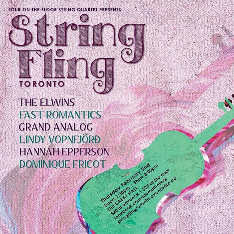 String Fling Gets the Elwins, Fast Romantics, Grand Analog for Toronto Edition