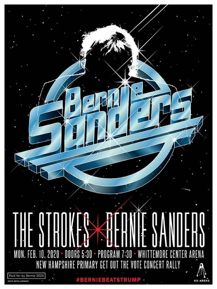 The Strokes Will Play a Bernie Sanders Rally in New Hampshire