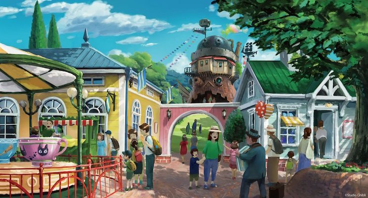 Here's the Official Concept Art for the Studio Ghibli Theme Park