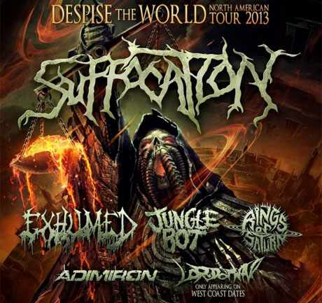 "Suffocation Announce ""Despise the World"" North American Tour with Exhumed, Jungle Rot"