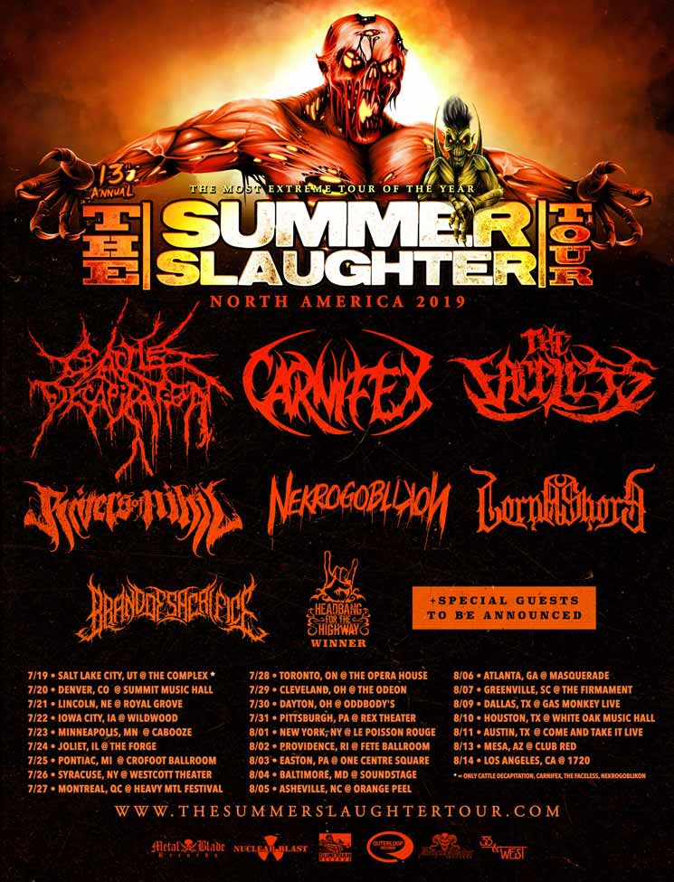 'The Summer Slaughter Tour' Is Returning to Toronto