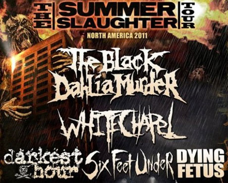 Summer Slaughter Tour featuring the Black Dahlia Murder, Dying Fetus, Oceano, Darkest Hour Sound Academy, Toronto ON August 9