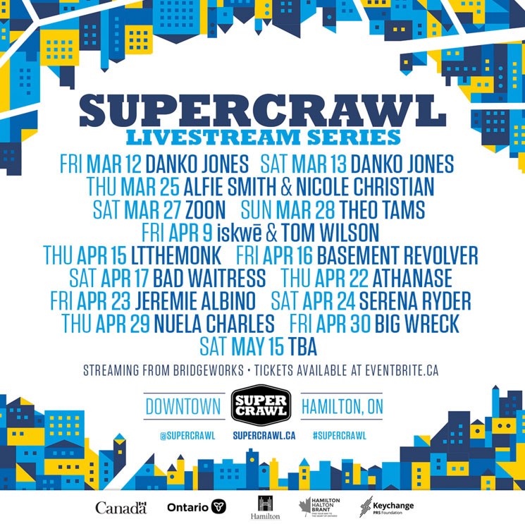 Hamilton's Supercrawl Gets Danko Jones, Big Wreck, iskwē for Spring Livestream Series