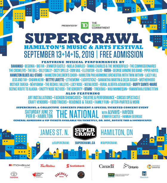 ​Hamilton's Supercrawl Unveils 2019 Lineup with Bahamas, Buffy Sainte-Marie, Bettye LaVette