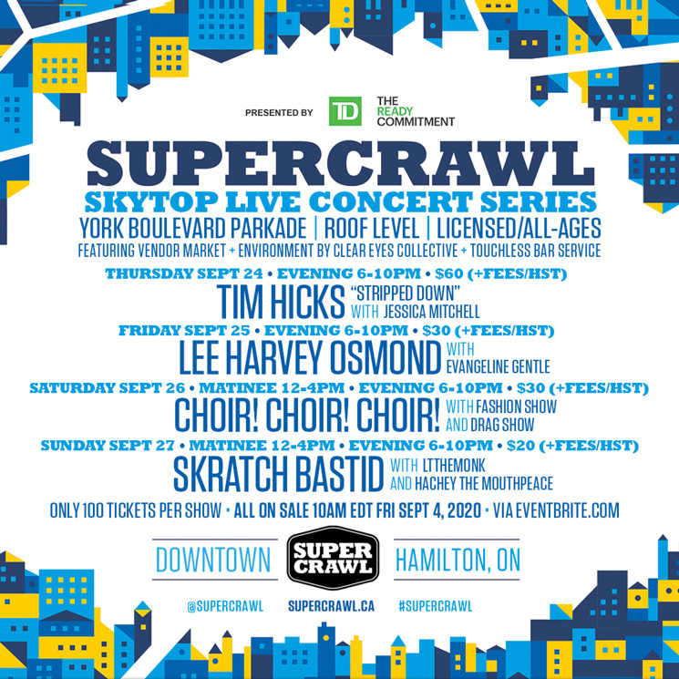 Hamilton's Supercrawl Announces September Rooftop Concert Series
