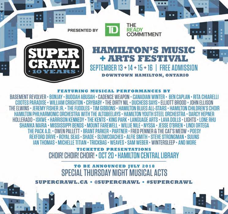 ​Hamilton's Supercrawl Unveils 2018 Lineup with Lights, Wintersleep, Owen Pallett