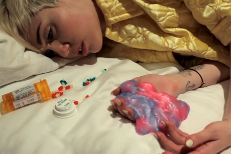"The Flaming Lips ""Blonde SuperFreak Steals the Magic Brain"" (ft. Miley Cyrus & Moby) (NSFW video)"