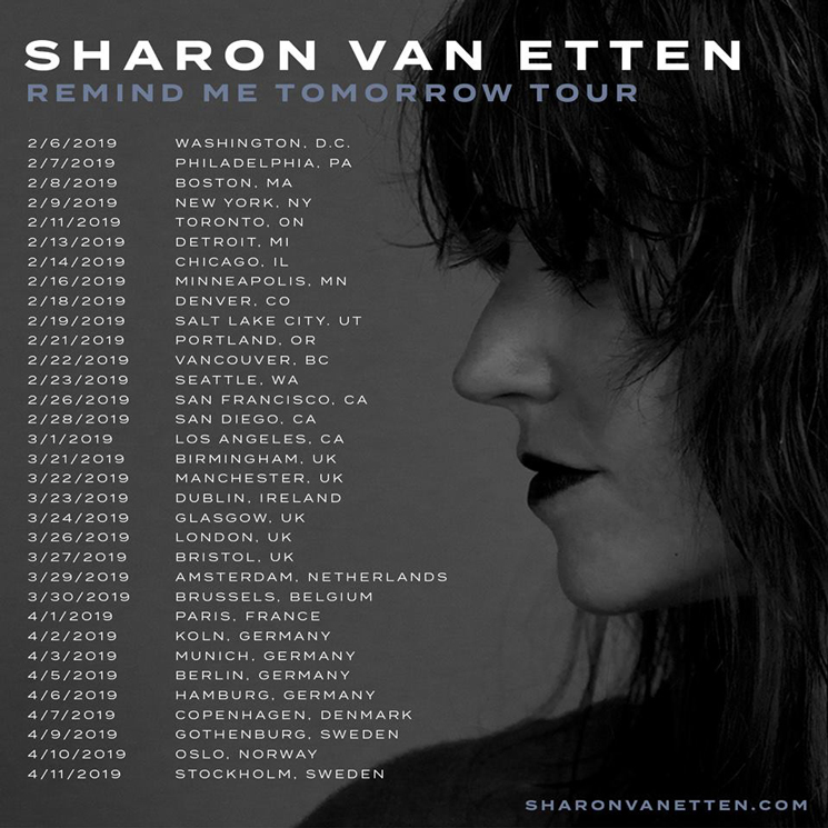 "Sharon Van Etten Maps Out ""Remind Me Tomorrow Tour"""