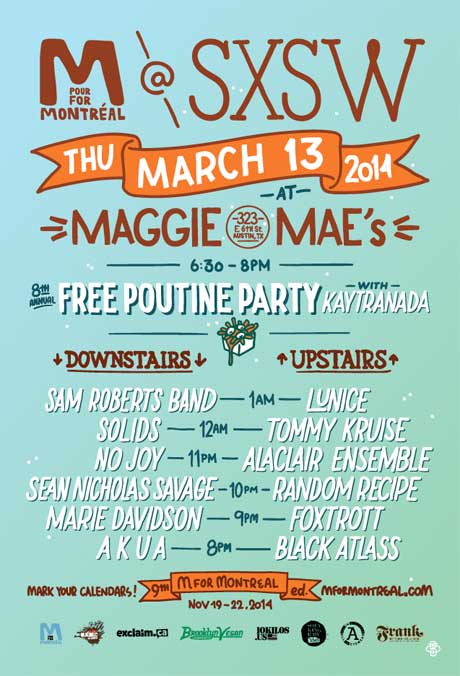 Sam Roberts Band, Lunice, No Joy, Solids Set for M for Montreal's SXSW Showcase