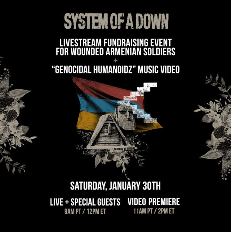 System of a Down Announce Livestream Benefit