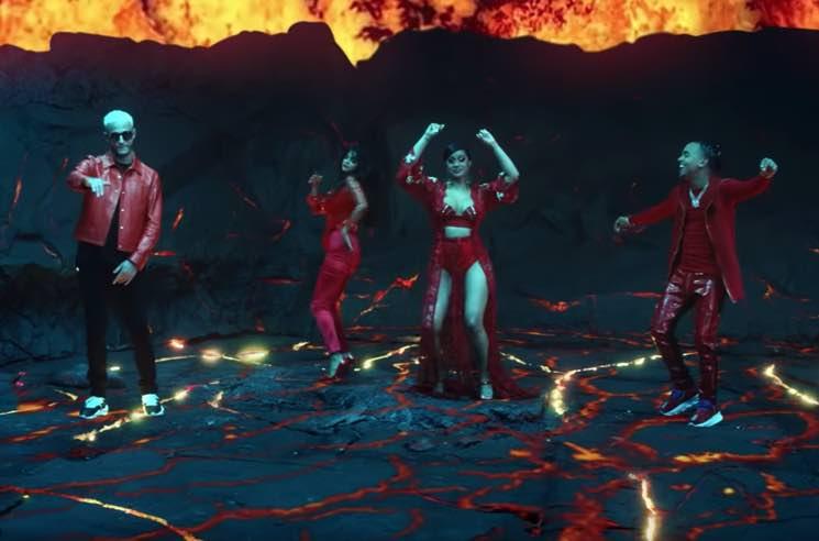 Selena Gomez, Cardi B, DJ Snake and Ozuna Dance on an Erupting Volcano in 'Taki Taki' Video
