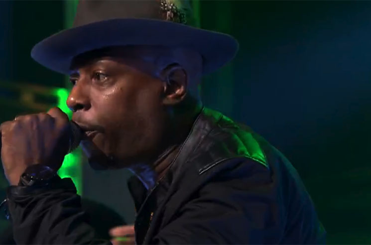 "Talib Kweli & 9th Wonder ""Every Ghetto"" (ft. Rapsody) (live on 'Fallon')"