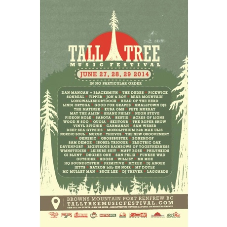 BC's Tall Tree Music Festival Announces 2014 Lineup with Dan Mangan, SonReal, the Dudes