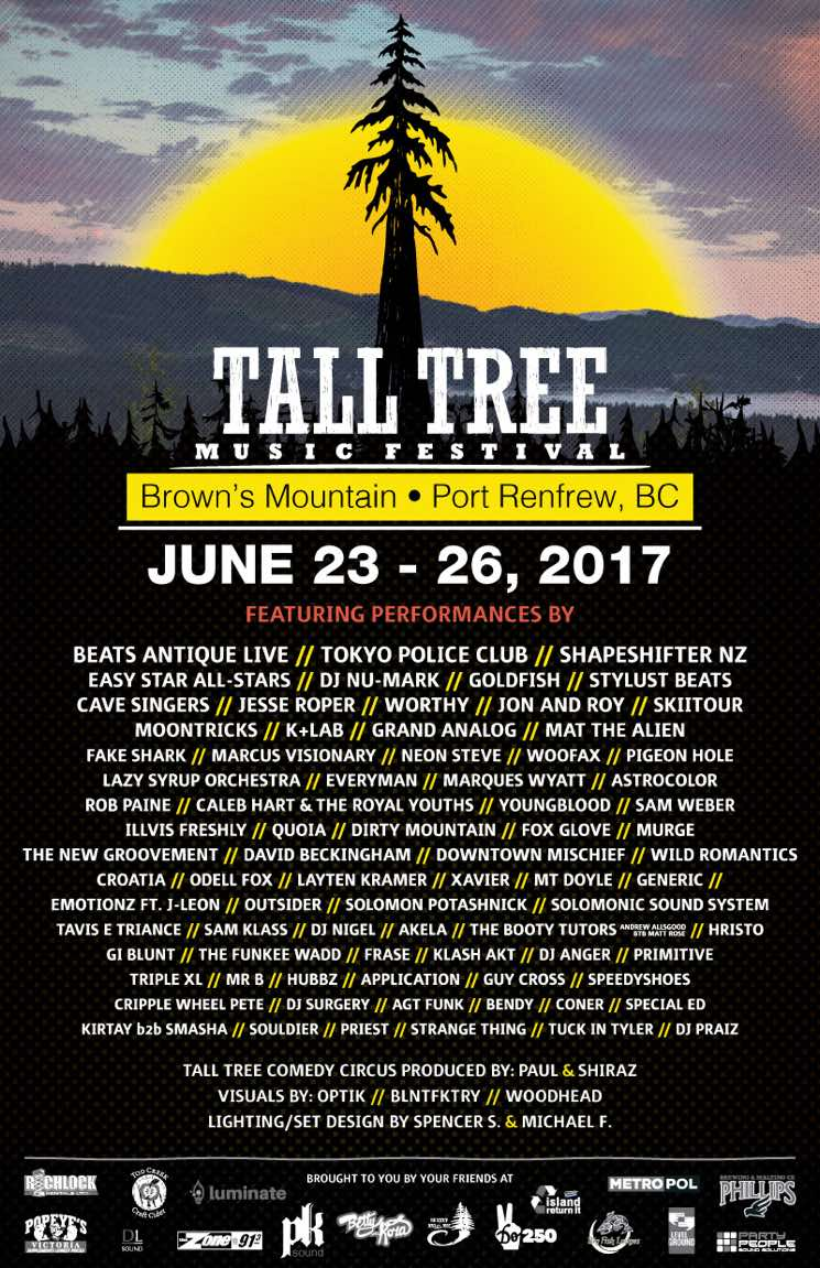 BC's Tall Tree Music Festival Announces 2017 Lineup