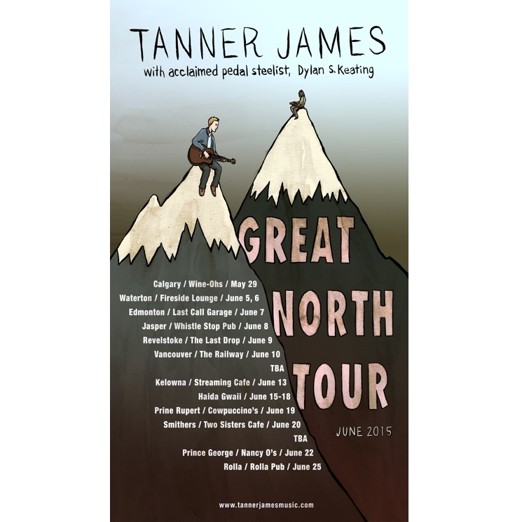 Tanner James Hits BC and Alberta on 'Great North Tour'