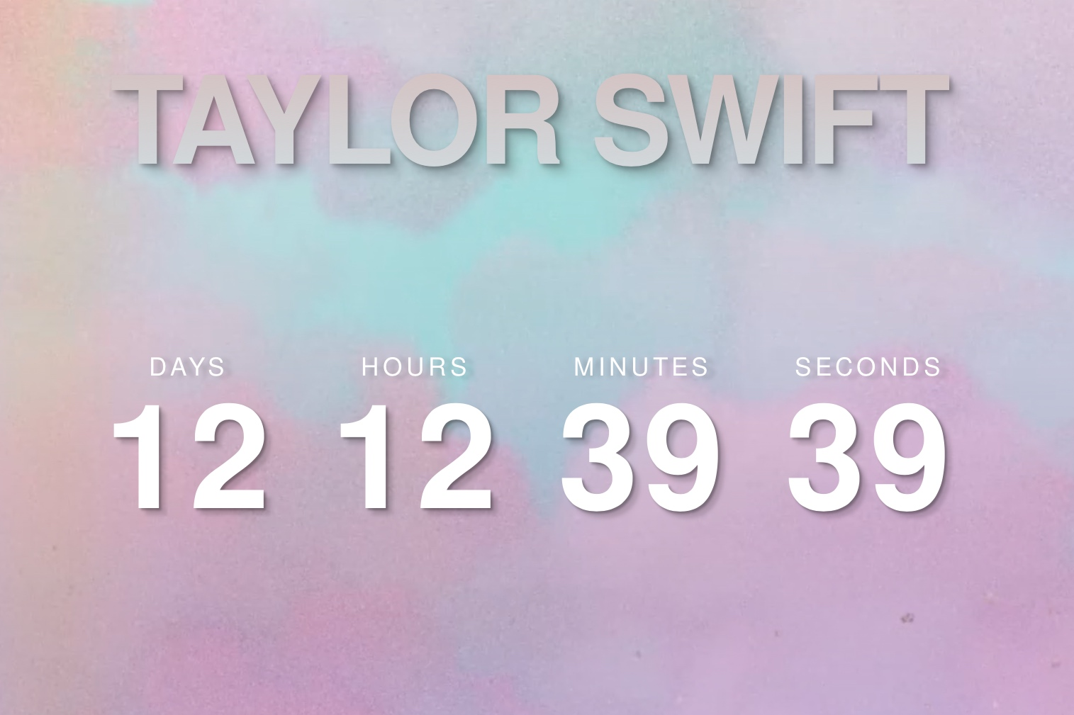 Taylor Swift Unveils Cryptic Countdown Clock