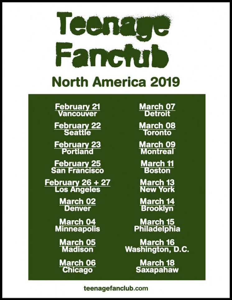 Teenage Fanclub Announce North American Tour