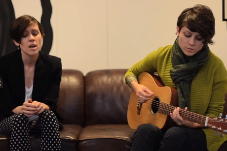 "Tegan and Sara ""Closer"" / ""I'm Not Your Hero"" (acoustic session)"