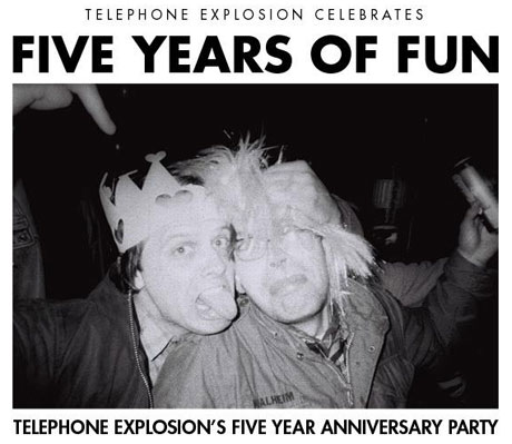 Telephone Explosion Celebrates 5th Anniversary with Toronto Show Featuring Teenanger, the Soupcans, Crosss
